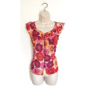 Anthropologie Fei Floral Silk Blend Blouse